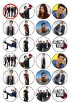 24 x Big Time Rush Rice Wafer Paper Cake Bun Toppers New